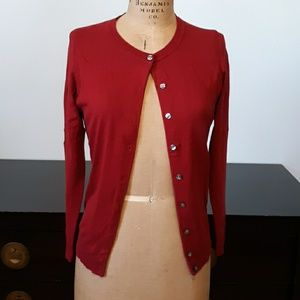 Karen Scott Burgundy Cardigan Sweater, size M